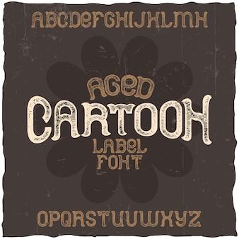 Vintage schrift namens cartoon. gute schriftart für jedes vintage-logo.
