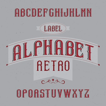Vintage schrift namens retro alphabet. gute schriftart für vintage-etiketten oder -logos.