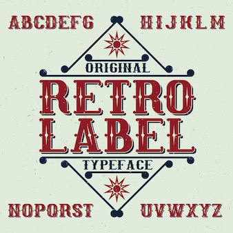 Vintage schrift namens retro label. gute schriftart für jedes vintage-logo.