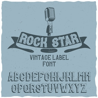 Vintage schrift namens rock star