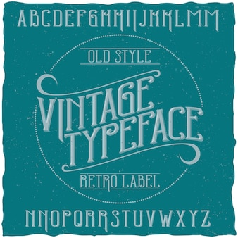 Vintage schrift namens vintage
