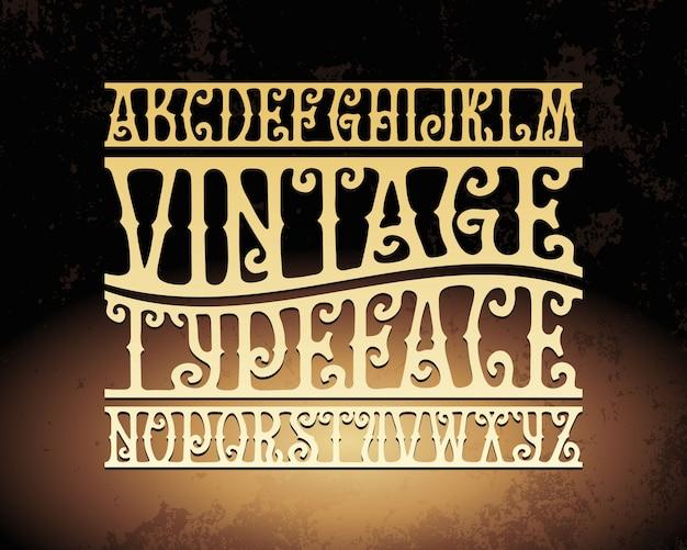 Vintage schrift