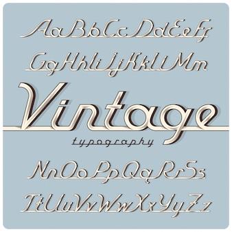 Vintage schriftart gesetzt