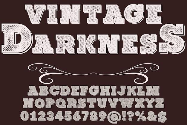 Vintage schriftarttypographie-entwurfsschwärzung
