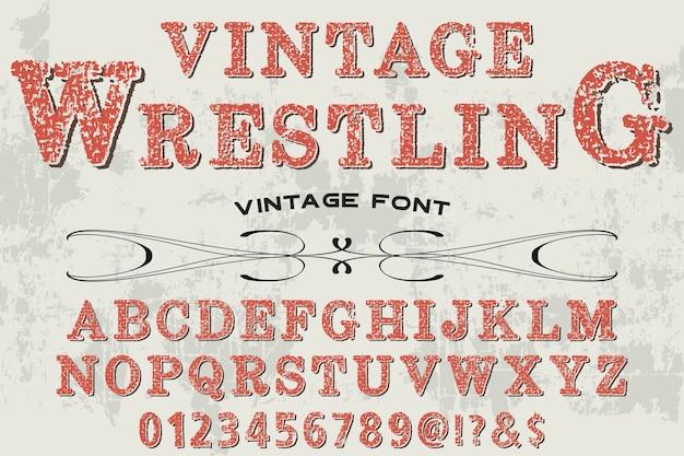 Vintage schriftbild design wrestling