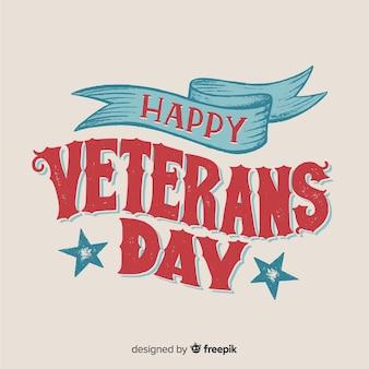 Vintage schriftzug für veterans day