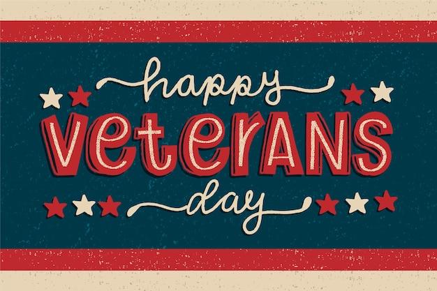 Vintage schriftzug veterans day wallpaper