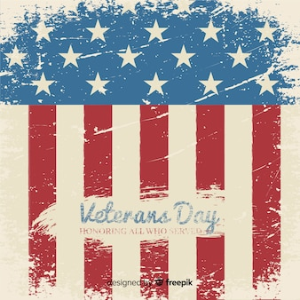 Vintage schriftzug veterans day