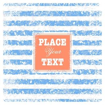 Vintage schrott nautischer hintergrund mit streifen und text