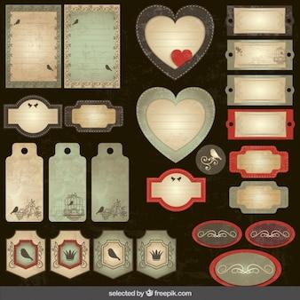 Vintage scrapbooking sammlung