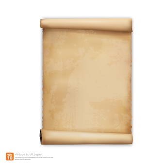 Vintage scroll-papier