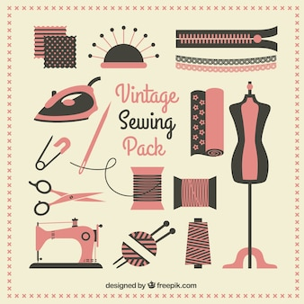 Vintage sewing pack