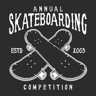 Vintage skateboard logo