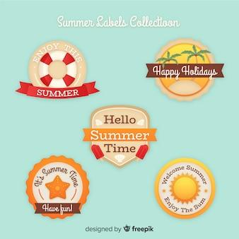 Vintage sommer abzeichen sammlung