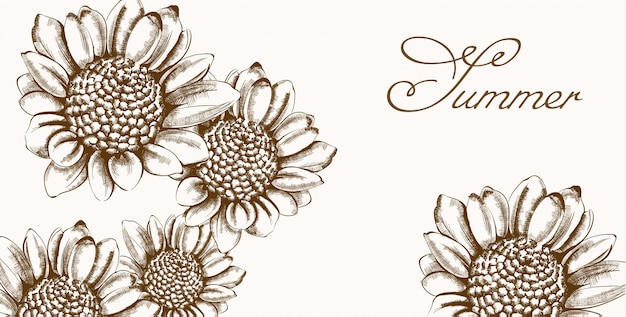 Vintage sonnenblume kranz