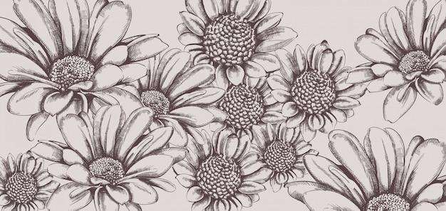 Vintage sonnenblume