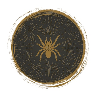 Vintage spinnenlogo