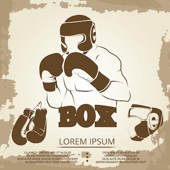 Vintage sport poster design