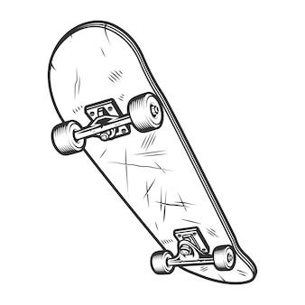 Vintage sport skateboard konzept