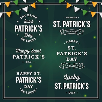 Vintage st. patrick's day labels