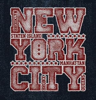 Vintage städtische typografie. new york city