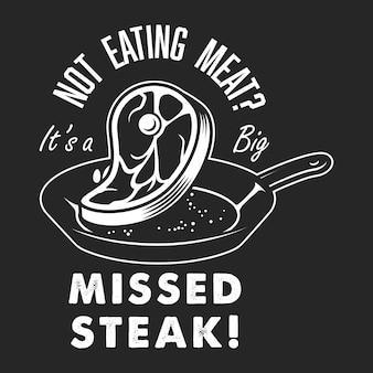 Vintage steak kochen