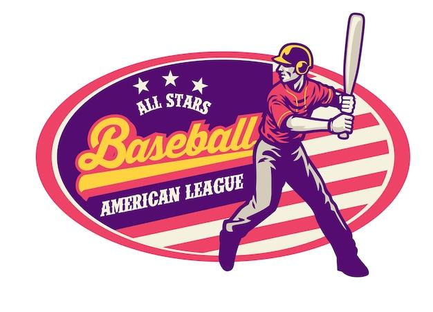 Vintage-stil des baseball-designs