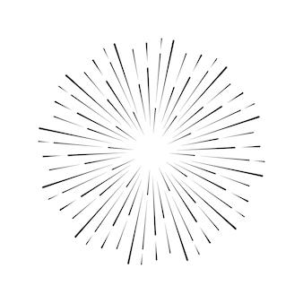 Vintage-stil des bildes design-elemente für ihre projekte hipster-stil lichtstrahlen der explosion ideal für projekte im retro-stil vector sunbursts firework