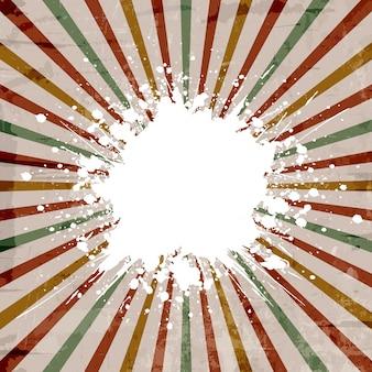 Vintage-stil hintergrund mit einem grunge starburst-effekt