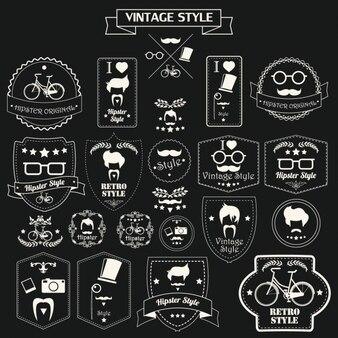 Vintage-stil hipster-etiketten