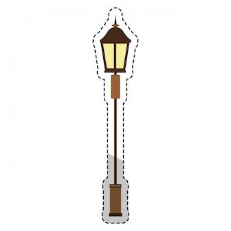Vintage straßenlampe