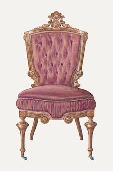 Vintage stuhlvektorillustration, remixed aus dem artwork von frank wenger