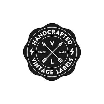 Vintage style brand abzeichen