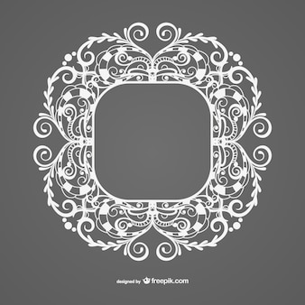 Vintage style white frame template
