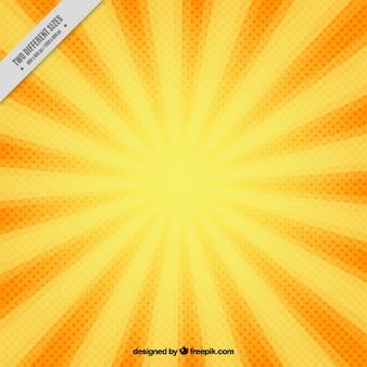 Vintage sunburst hintergrund im comic-stil