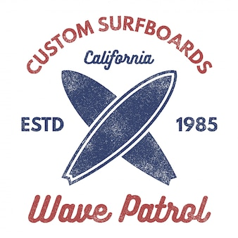 Vintage surfing label