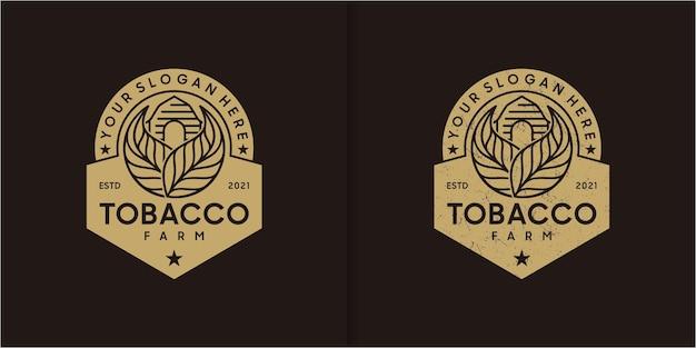 Vintage-tabakfarm-logo, logo-referenz