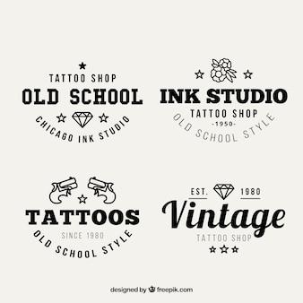 Vintage-tattoo-studio logos