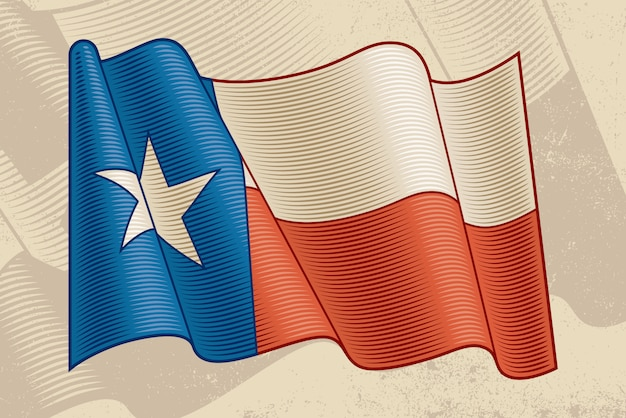 Vintage texas-flagge