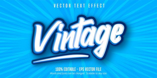 Vintage text, bearbeitbarer texteffekt im pop-art-stil