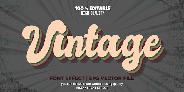 Vintage-texteffekt retro-textstil
