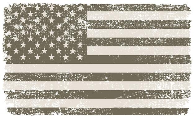 Vintage texturierte usa flagge