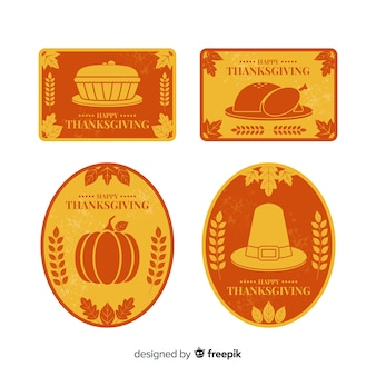 Vintage thanksgiving-label-auflistung