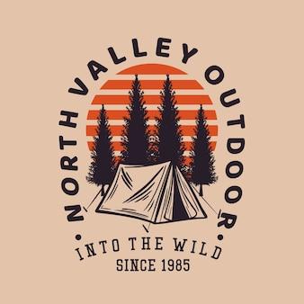 Vintage themenorientiertes t-shirt designkonzept