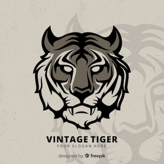 Vintage tiger hintergrund