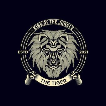 Vintage tiger logo