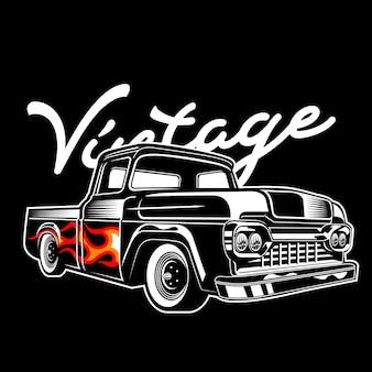 Vintage truck flammo