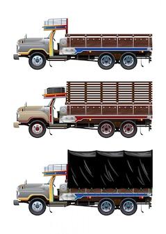 Vintage truck gesetzt