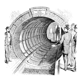 Vintage tunnel abbildung