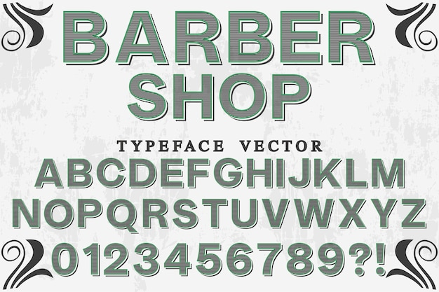 Vintage typografie friseurladen